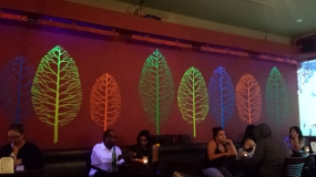 Pretty decor under blacklights